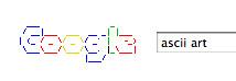 Google's Logo in ASCII