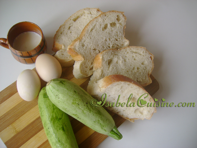 Bruschette with courgettes