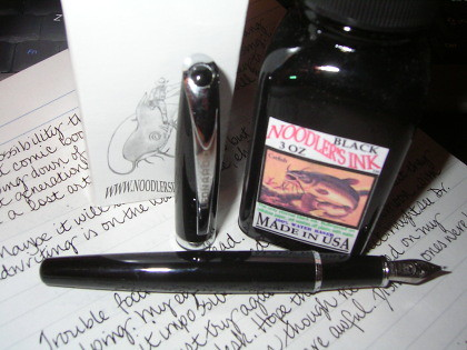 Leonardo Calligraphy Pen Meets Noodler's Black Ink