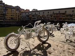 Ponte Vecchio, Florence (Burçin YILDIRIM) Tags: city travel bridge italy bike bicycle river florence europe souvenir cycle firenze arno pontevecchio floransa