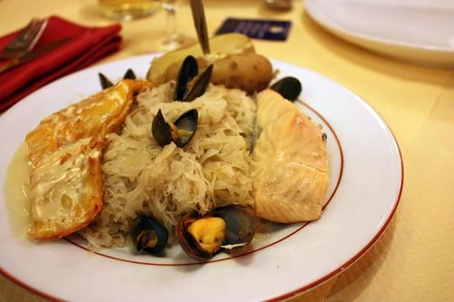 Choucroute aux 2 poissons