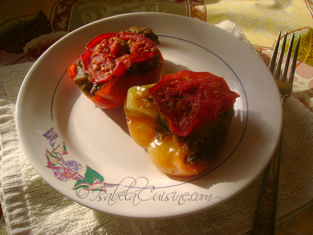 Peppers stuffed with eggplant
