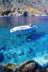loutro ({epanoe} was blind tourist) Tags: sea beach water island greek boat south clear greece crete archipelago libyan mediteranian loutro sfakia