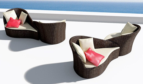Asian inspired patio furniture-outdoor seating