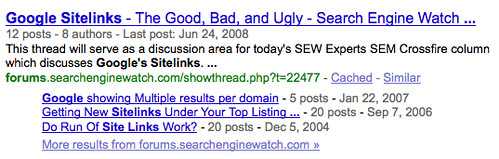Deeper Google Sitelinks With Data