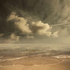 Simulation (Olli Keklinen) Tags: ocean sea sky seascape color water clouds photoshop square nikon waves 100v10f 2009 d300 500x500 firstquality ok6 ollik 20090927 100commentgroup artistictreasurechest