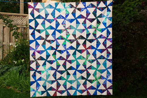 Blue Meanies quilt top