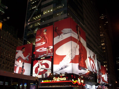 Target billboard Times Square 2007