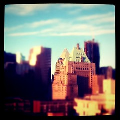Golden Hour (Maurice Li) Tags: blue roof sky green skyline vancouver downtown cityscape shift bluesky tilt buidlings hotelvancouver tiltshift instagram