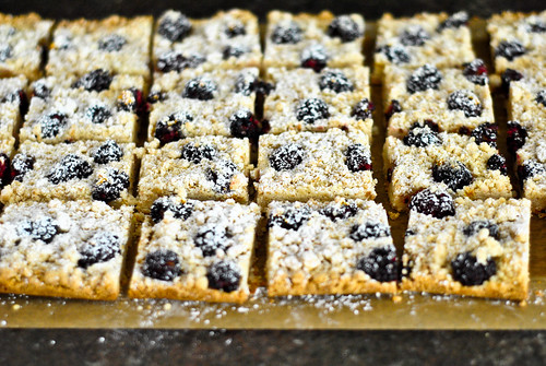 blackberry almond shortbread