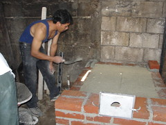 Cesar, building a wood buring stove
