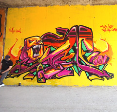 INCA _ EDS ick (SRCARAMELOS) Tags: new city black color colour art colors inca graffiti big spain mural colours darkness cloudy killing character fat clown year bad free pic can colores double spray alicante diablo graff eds dope logan piece dibujo nuevo droga envoy 205 candyman monsta caramelos maraa taser demonio enviado colourz maligno 2011 azazel novedad belcebu srcaramelos burnas edsatan