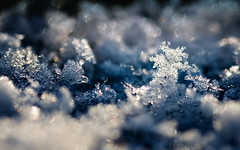 Snow Crystal Landscape (Peter Gorges) Tags: desktop blue winter wallpaper snow macro ice landscape melting frost crystal bokeh background widescreen 1600 tamron 90mm d300 2560 coloreffects bokehlicious niksoftware