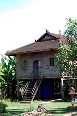 Maison cambodgienne typique