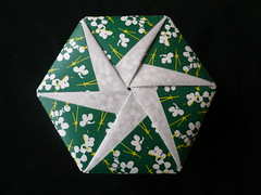 Hexagonal Origami Box (Handmade by Deb) Tags: green paper japanese origami box handmade hexagonal craft giveaway tomokofuse origamiboxes