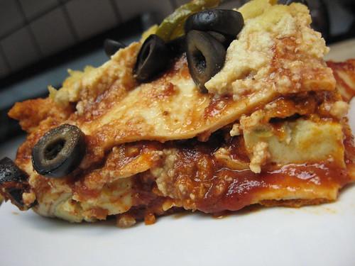 enchilada casserole plated