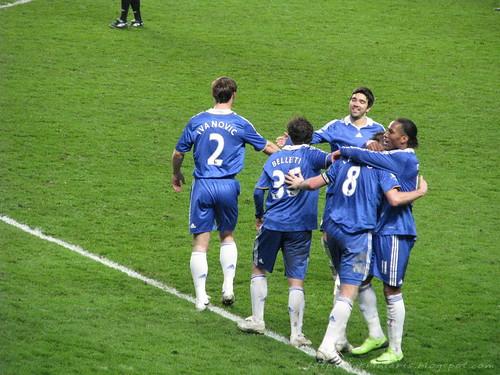 Celebrating Frankie's goal (3-1)
