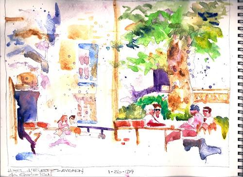 Hotel d'Europe--Avignon (a la Charles Reid)