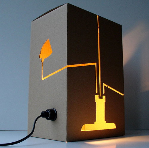 Not a Lamp, the cardboard lamp designed by David Graas
