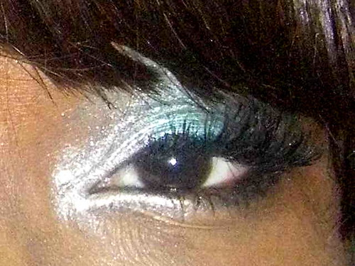 Silver Eye shadow Make-Up