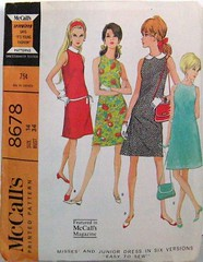 Vintage McCalls Pattern 8678 Mod 60s Dress in Six Versions Easy To Sew Size 14 Bust 34 Waist 26 Hip 36 (Sassy By Design) Tags: she vintage clothing flickr pattern sewing womens international cast etsy size14 alinedress bust34 sassybydesign waist26 hip36