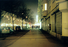 The nights, they're all alike. (tapir.) Tags: berlin friedrichshain praktica bcs frankfurterallee