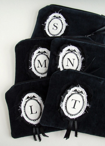 monogram pouches