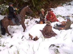 (canadajack) Tags: camp snow cowboys toy toys actionfigure model cowboy models actionfigures western gunfighter oldwest onesixthscale gunfighters westernfigures onesixth sixthscale 16thscale oldwestfigure