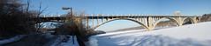 Ford Bridge over Mississippi (Dan Anderson.) Tags: bridge winter panorama ice panoramic mississippiriver fordbridge