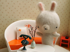 Introducing Sada (TADA's Revolution) Tags: rabbit bunny miniature handmade crochet craft plush livingroom sofa softie stuffedanimal kawaii rement amigurumi diorama crafting dollhouse stuffie megahouse  lilliputlivins