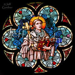 St. Bernard of Clairvaux (*Jeff*) Tags: church window saint catholic cross stainedglass sponge spear crownofthorns tonsure