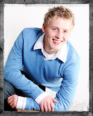 cody in blue (jaki good miller) Tags: boy portrait cute senior smile handsome teen blonde jakigood handsomeboy seniorportrait