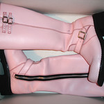 Pink Fluevog Bond Girl Motorcycle Boots thumbnail