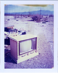 (moominsean) Tags: arizona abandoned trash polaroid tv desert 195 sacramentovalley oldroute66 iduv expired102005 oatmanhwy