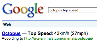 Google Octopus Speed