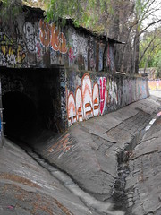 the entrance to the slide/ hawthorn drains (dead_babies) Tags: urban underground graffiti entrance drain maze exploration hawthorn bluestone