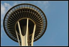 Space Needle (earthmagnified) Tags: seattle usa architecture washington unitedstates pacificnorthwest spaceneedle washingtonstate modernarchitecture seattlecenter seattleskyline vagabonding