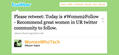 Today is #Women2Follow - Recommend great women in UR twitter community to follow.