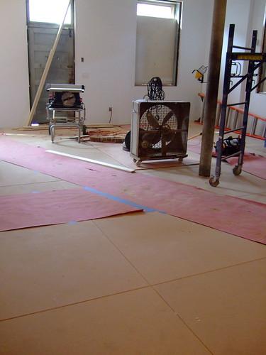 Workroom floor
