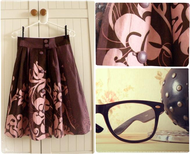 marchewkowa.blogspot.com, j.z., fashion blog, moda 2009, DIY, szycie spódnicy, spódnica z koła, wykroje, Burda, Ikea, kwiecisty materiał