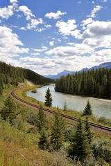 Look Eve, yours but no train! (Liz Faulkner) Tags: road blue summer sky canada mountains nature water field clouds rockies golden waterfall amazing cabin scenery jasper skies britishcolumbia turquoise scenic wideangle canoe glacier alberta bow banff gondola wilderness transcanadahighway lakelouise fairmont revelstoke jaspernationalpark athabascafalls rogerspass sulphurmountain athabasca stewartcanyon crazycreek lakeminnewanka morainelake columbiaicefield icefieldsparkway bowlake vermillionlakes athabascaglacier 1635mm takakkawfalls crowfootglacier johnsonlake maralake mountnorquay threevalleygap spiraltunnels endlesschain diffanglephoto constellationlake copyrightelizabethfaulknerdiffanglephotolrps