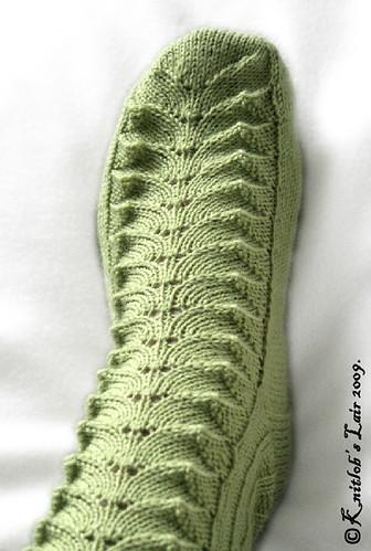 green lace socks 2sm