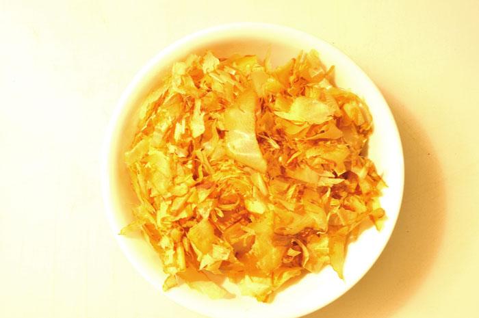 katsuobushi, dried bonito flakes