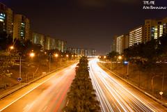 Lights (M.Azri.B is busy with school A levels coming!!!) Tags: longexposure cars night lights highway singapore sony vehicles expressway roads alpha streaks a100 bahajjajj