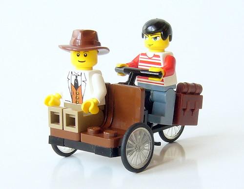 Lego custom Rikshaw