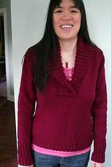 AV Shawl-collared pullover
