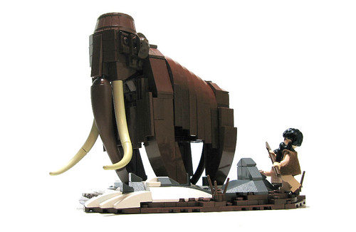 Wooly Mammoth custom moc and cave man custom minifig