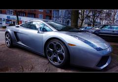 Lamborghini Gallardo HDR (schoebs) Tags: auto black car closeup canon silver eos hamburg fast sigma wideangle 1020mm lamborghini hdr borders nahaufnahme gallardo sportscar silber schnell sportwagen rothenbaumchaussee 40d schoebs