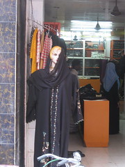 31 - The white manequin selling burkas at the burka store across the street from our Chennai hotel