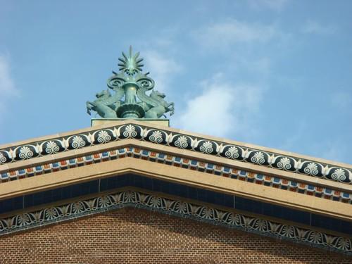 Detail. Philadelphia Museum of Art, West Entrance.